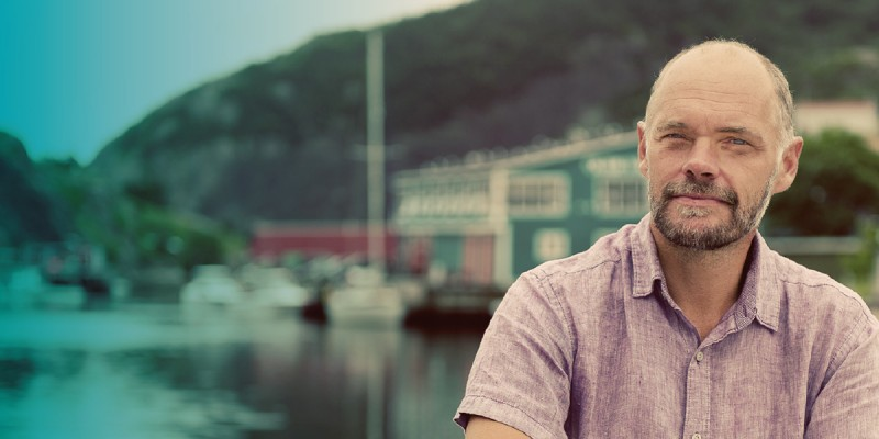 Dr. Sean McGrath is pictured at Quidi Vidi Village.
