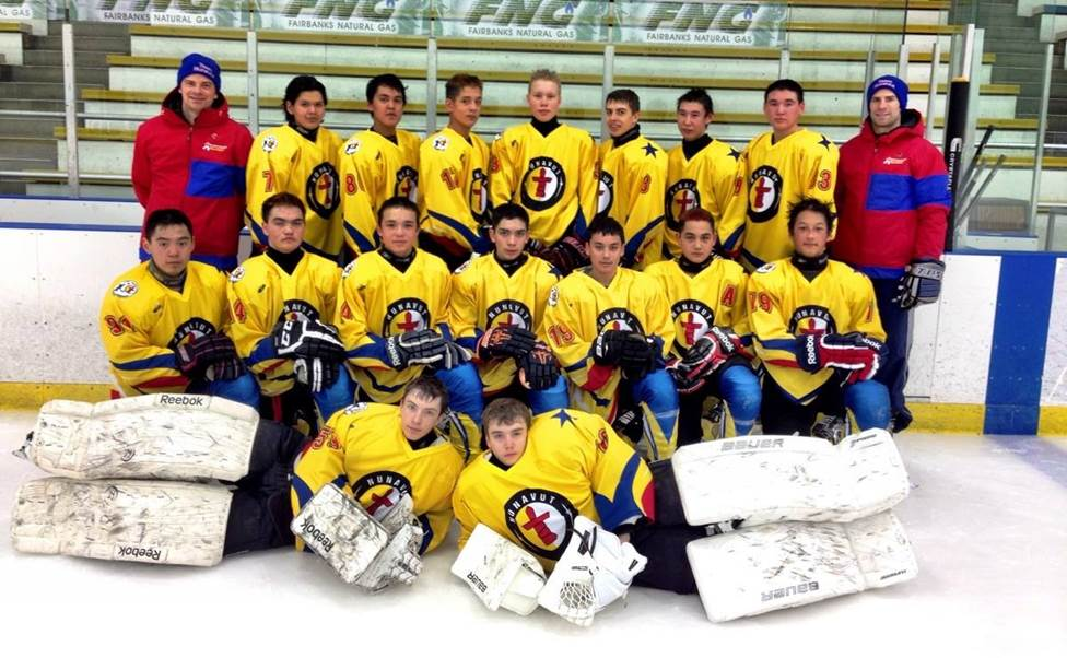 Team Nunavut at the 2014 Arctic Winter Games in Fairbanks, Alaska.