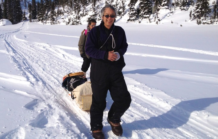 Dr. Michael Jong enjoying some snow and sun in Labrador.