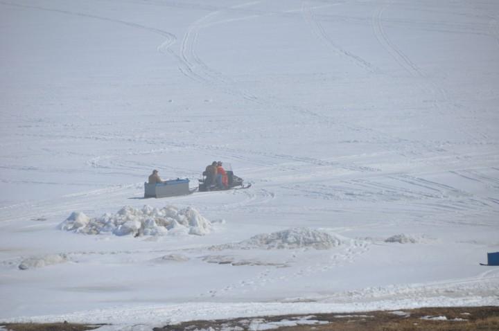 A scene of life in Nain, Labrador.