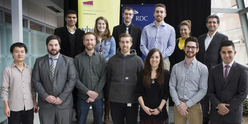 In total, 19 Memorial students received Ocean Industries Student Research Awards during a ceremony on March 7.