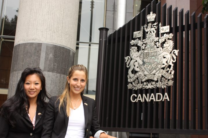 Jasmine Elliott, pictured at right, during the Global Vision trade mission in China.