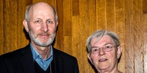Dr. MacKenzie is pictured with Wladyslaw Cichocki, President of the Canadian Linguistics Association
