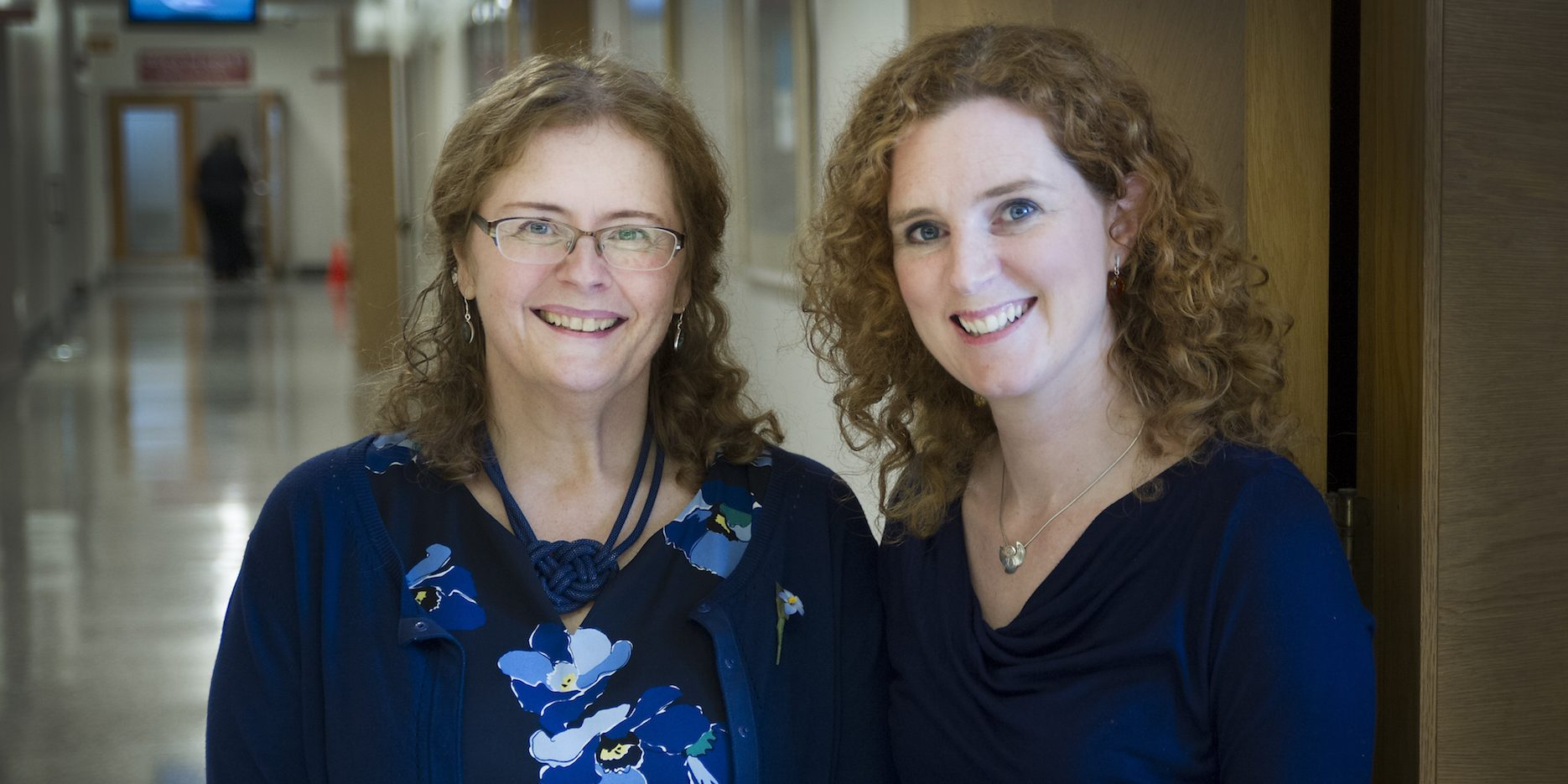 From left, research partners Terry Bishop Stirling and Heidi Coombs-Thorne.