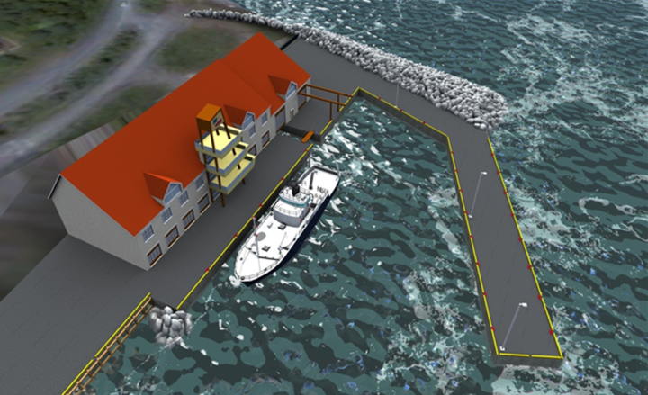 A rendering of the completed Holyrood Marine Base facility.