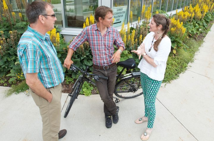 Dr. Trevor Bell, Patrick Arnell and Dr. Michelle Slaney discuss community sustainability.