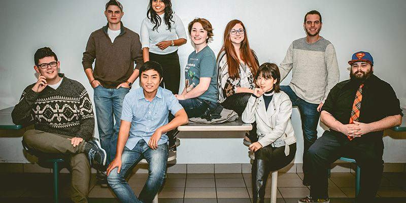 "Cast of ""the New Class"" (L-R): Andreas, Wesley, Sinh, Chris, Sierra, Amber, Iris, Jeremy, Rowan (Missing from photo: Alaina)"