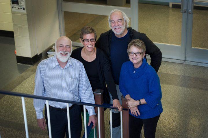 From left, Dr. Len Zedel, Dr. Yolanda Wiersma, Dr. Bill Montevecchi and Dr. Luise Hermanutz.