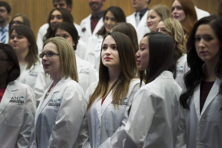 Members of the Class of 2019 during the 2016 White Coat Ceremony.