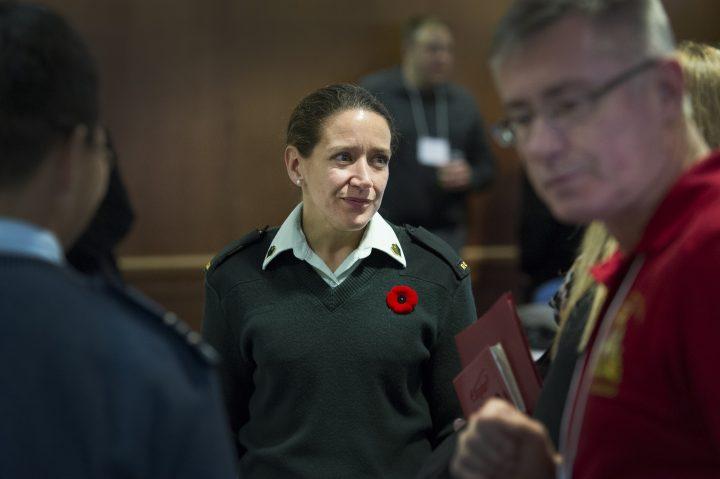 Members of the Atlantic Regional Military and Veteran Families meet in a Leadership Circle.