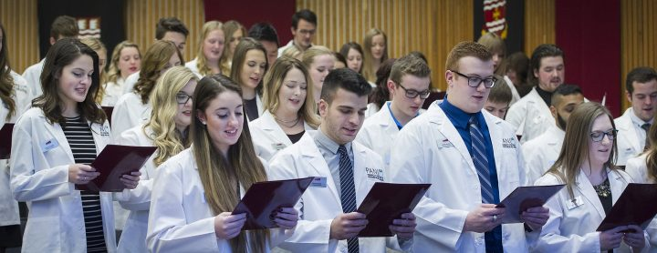 Pharmacy students recite the Newfoundland and Labrador Pharmacy Board's Code of Ethics.