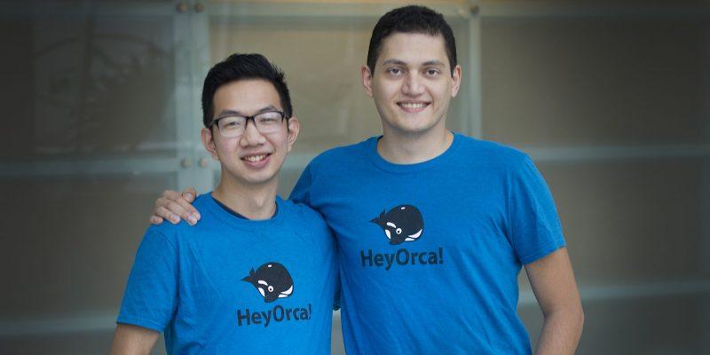 Joseph Teo and Sahand Seifi, co-founders of HeyOrca