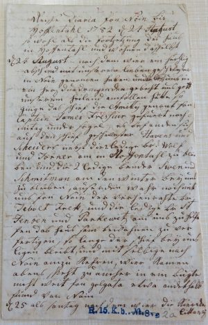 German Hopedale diary 1782 Moravian Archives Herrnhut