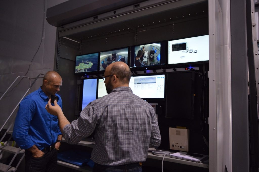 Adam Dubrowski (FoM) and Rob Brown (MI) - at the control station