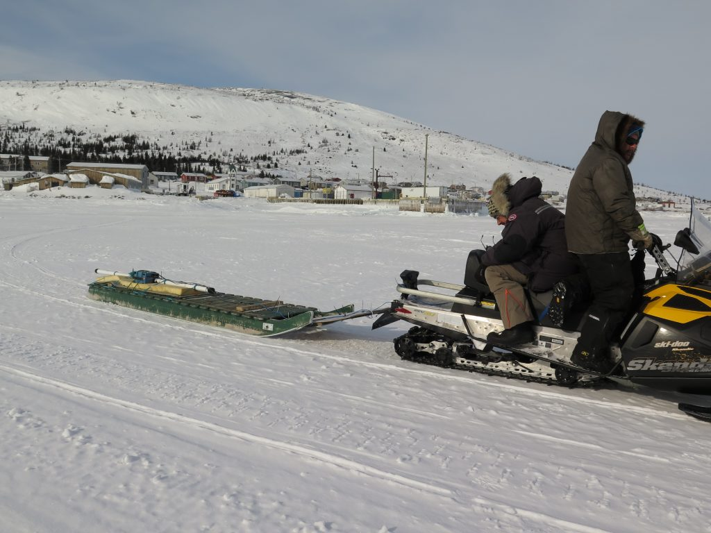 Development trials of the SmartQAMUTIK on the sea ice off Nain (Nunatsiavut).