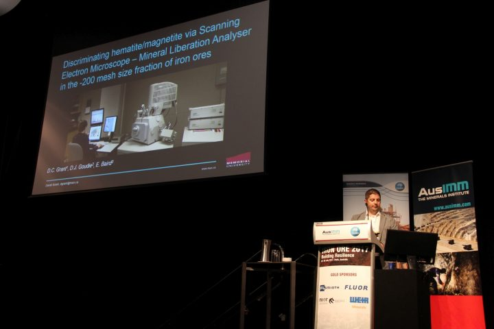 Dr. David Grant presenting at Iron Ore 2017, a highly-respected international conference held in Australia in July.