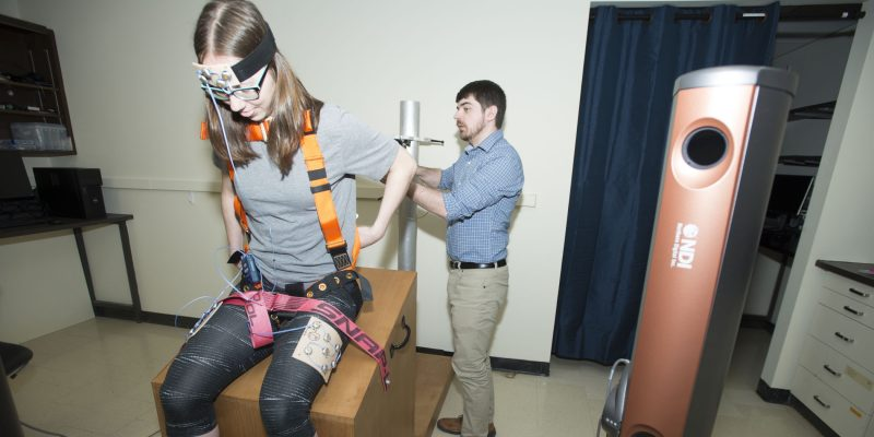 From left Mona Frey and Ryan Greene in Dr. Diana De Carvalho's lab.