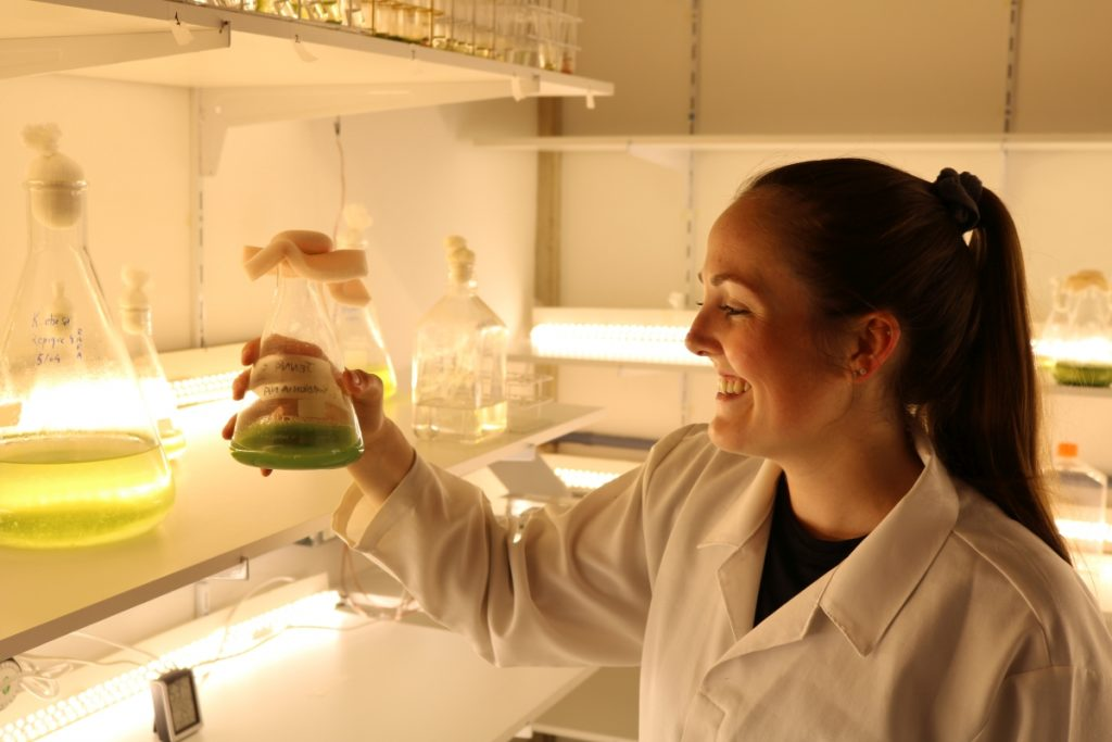 Master's student Jenna MacKinnon's video focused on healthy fats at the base of marine food webs.