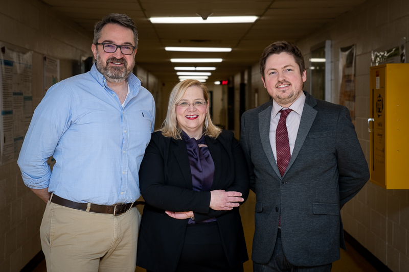 From left are Drs. Christopher Kozak, Christina Bottaro and Michael Babechuk.