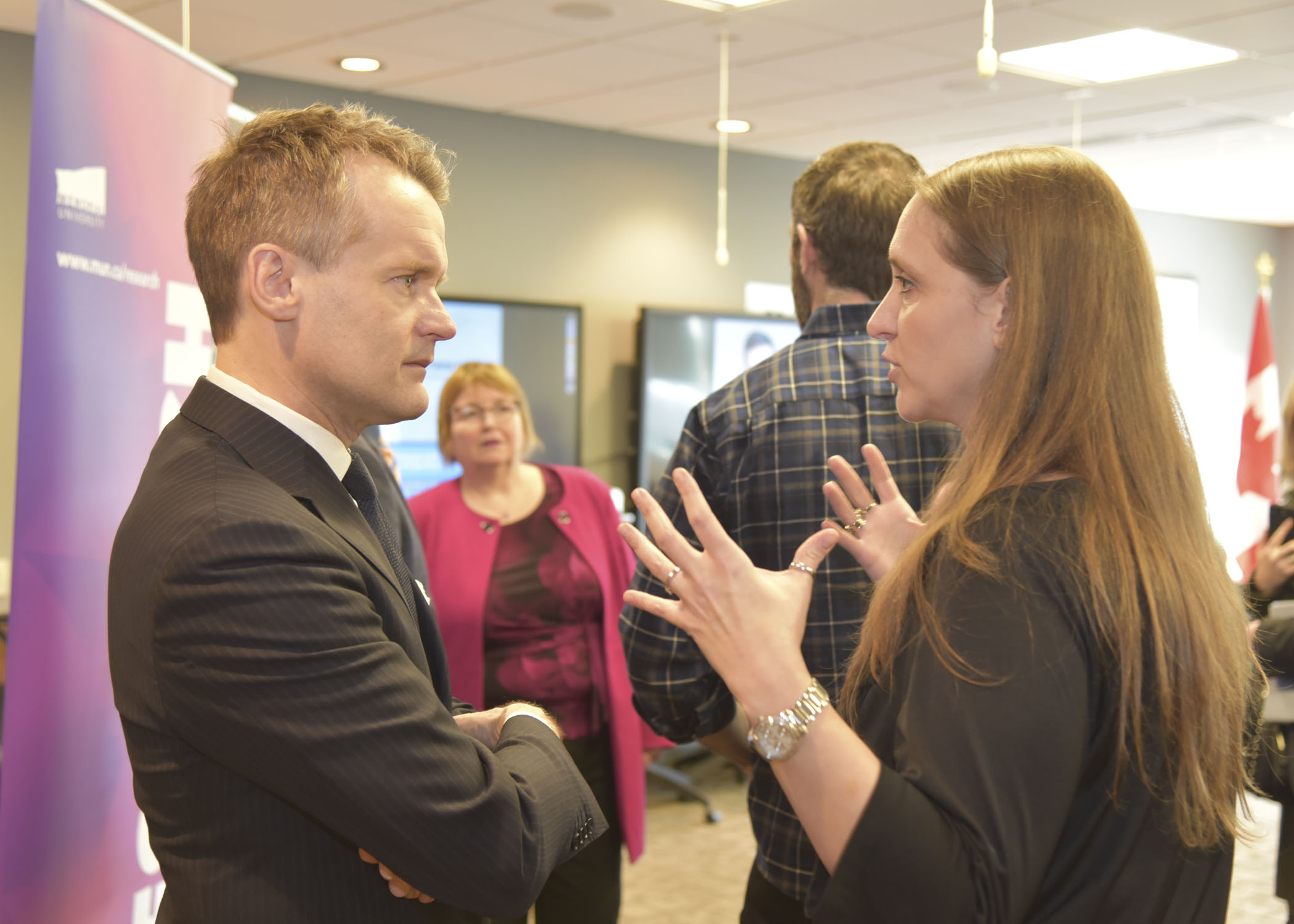 Minister Seamus O'Regan met with Dr. Sheila Garland during the event on March 12.