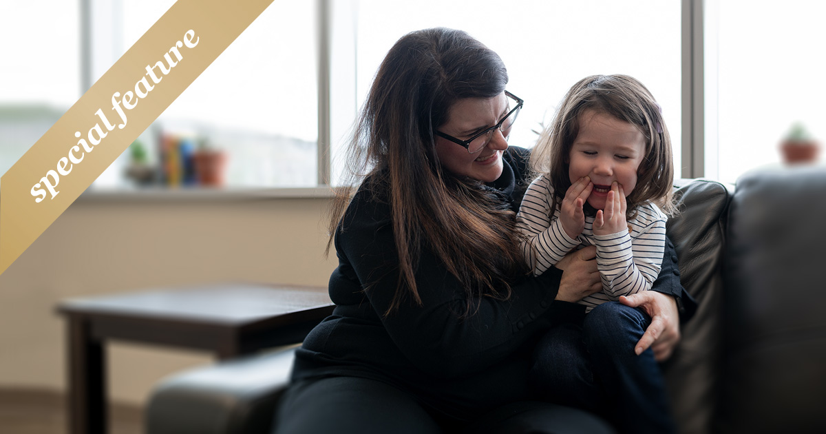 Dr. Janine Woodland-Flaherty and her daughter.