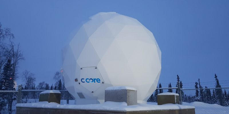 C-CORE's Inuvik ground station operating in winter 2018