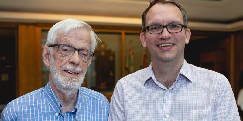 From left: Drs. John Molgaard and Scott Matthews.
