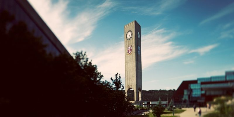 Clock tower on Memorial's St. John's campus