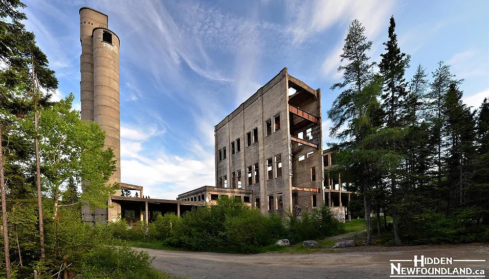 Abandoned mill in Glovertown.
