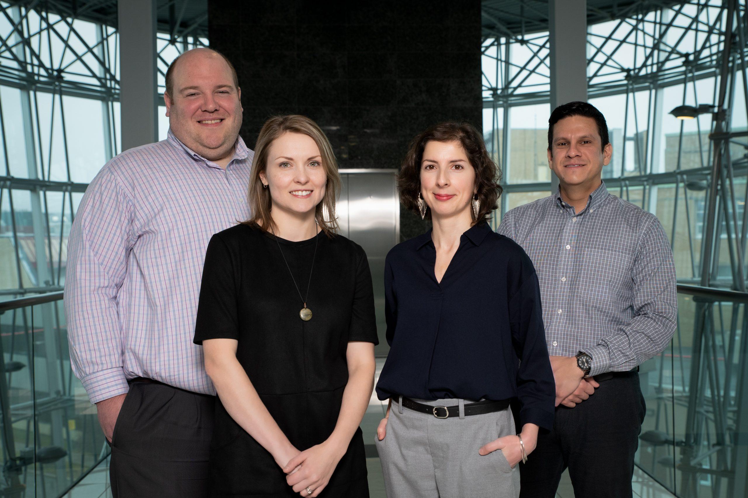 TTCO staff include, from left, Dr. Matt Grimes, Kara Strickland, Dr. Paula Mendonça and Carlos L. Sanyer.