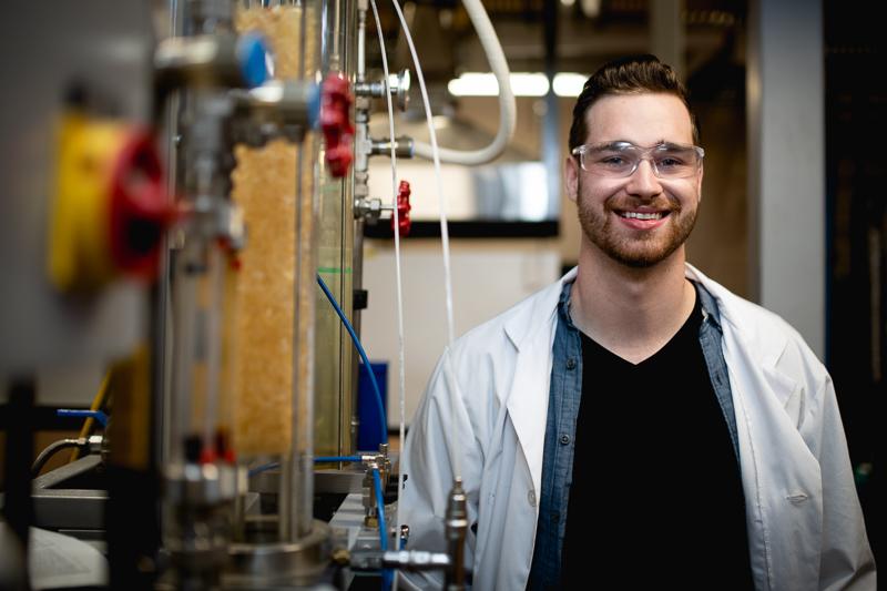 Neil Woolfrey in the Process Engineering Undergraduate Laboratory.