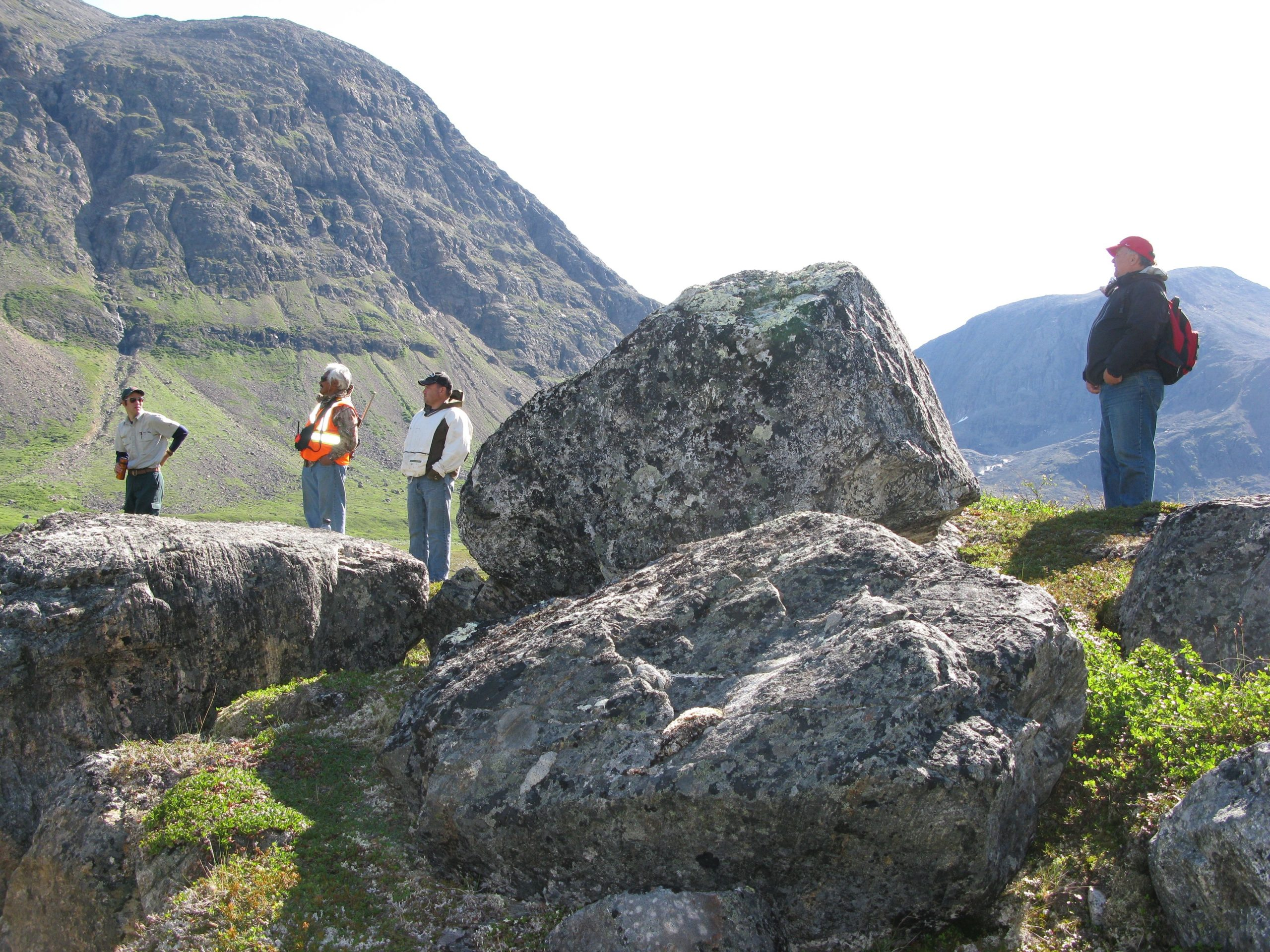 Dr. Kachanoski, right, in Torngat Mountains