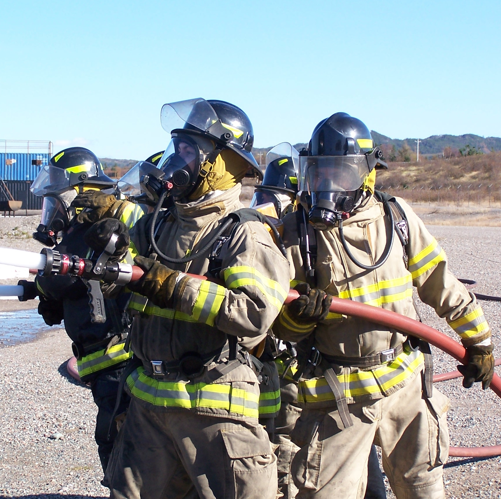 SERT firefighter training, Sheshatshiu