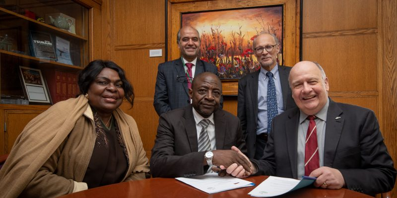 Memorial signed a five-year memorandum of understanding (MOU) with Nigeria's National Agency for Science and Engineering Infrastructure (NASENI) on Feb. 13.